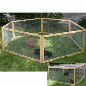 Rabbit Run Kerbl Wooden 4 Sided
