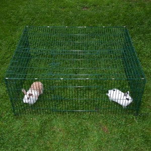 Rabbit Cage Parcour Square Shaped Run with roof