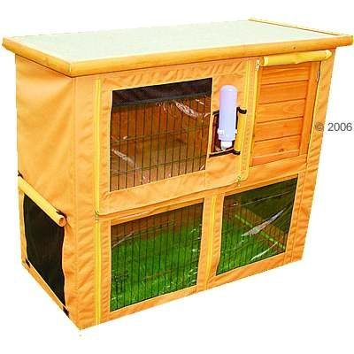 Outdoor Rabbit Hutch Cover Outback Classic with run I & II
