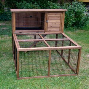 Large Rabbit Hutch Forest With Rabbit Run