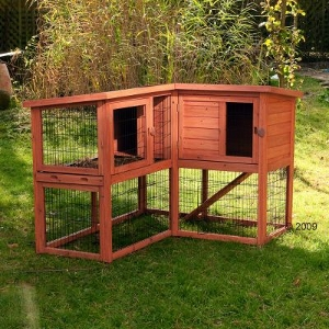 Space saving Outdoor Rabbit Hutch Outback Corner