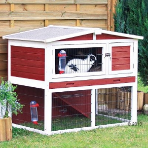 Large Rabbit Hutch Trixie Natura Red and White