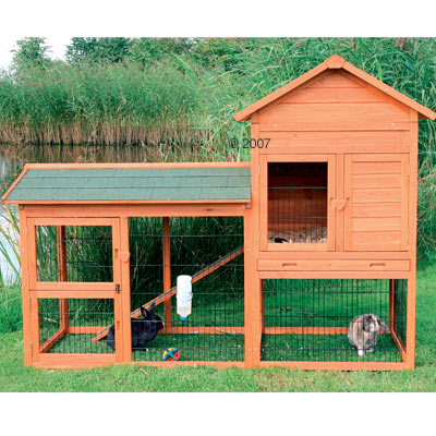 Large Rabbit Hutches Natura 120 with Large Pen