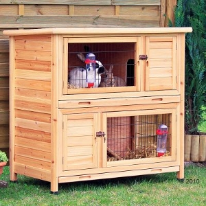 Rabbit Hutch Trixie Natura Double Decker 2 Storey Rabbit Hutch